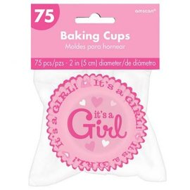 It's a Girl Baking Cups 75ct