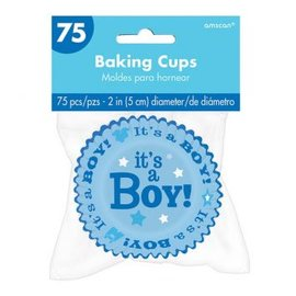It's a Boy Baking Cups 75ct