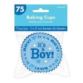 It's a Boy Baking Cups 75ct