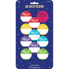 Hello My Name Is  Buttons