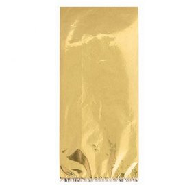 Small Metallic Gold Plastic Treat Bags 25ct