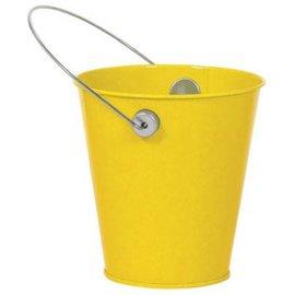 Sunshine Yellow Metal Favor Pail
