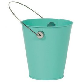 Robin's Egg Blue Metal Favor Pail