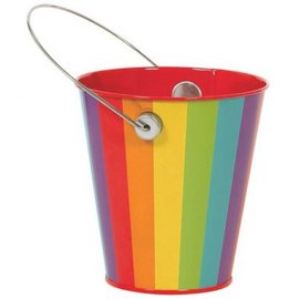 Rainbow Metal Favor Pail