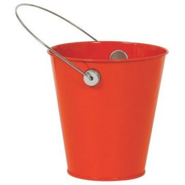 Orange Peel Metal Favor Pail