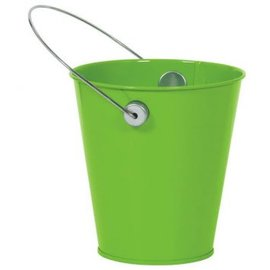 Kiwi Green Metal Favor Pail