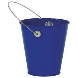 Royal Blue Metal Favor Pail