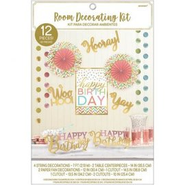 Confetti Fun Birthday Room Decorating Kit 12pc