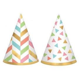 Confetti Fun Mini Foil Cone Hats, 12ct
