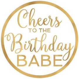 Cheers to the Birthday Babe Confetti Fun Hot-Stamped Coasters, 18ct