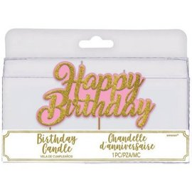 Glitter Happy Birthday Toothpick Candle