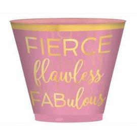 Fierce Fabulous Confetti Fun Tumblers, 9 oz., Hot-Stamped 30ct