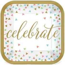 Confetti Fun Celebrate Dessert Plates 18ct