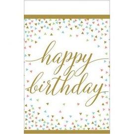 Confetti Fun Happy Birthday Table Cover