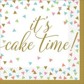 Confetti Fun Cake Time Lunch Napkins 36ct