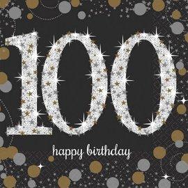 Sparkling Celebration 100 Beverage Napkins, 16ct