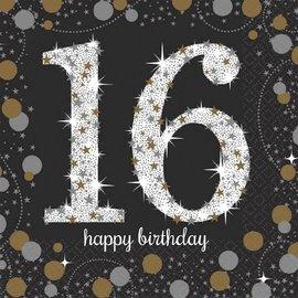 Sparkling Celebration 16 Beverage Napkins, 16ct