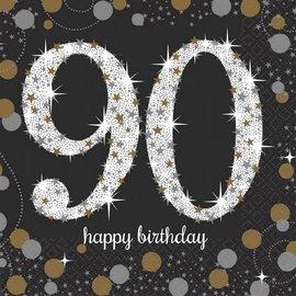 Sparkling Celebration 90 Beverage Napkins, 16ct