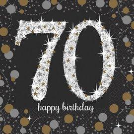 Sparkling Celebration 70 Beverage Napkins, 16ct