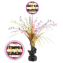 Pink and Gold Milestone 30 Spray Centerpiece