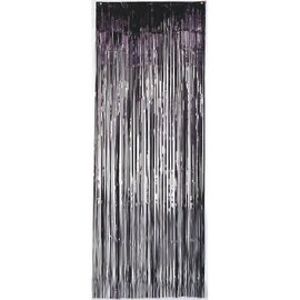 Black Foil Metallic Curtain