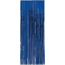 Bright Royal Blue Metallic Curtain