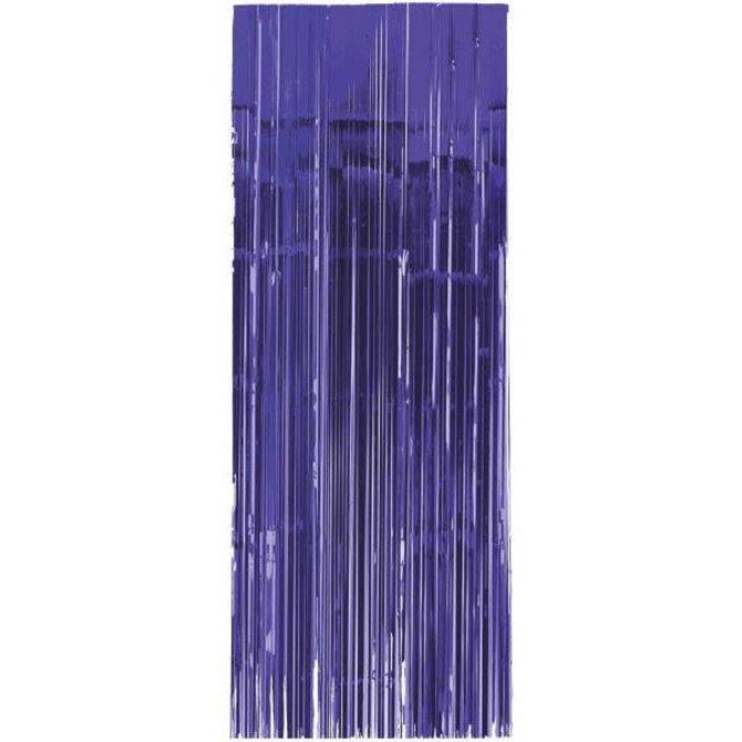 Purple Metallic Curtain 3'x8'