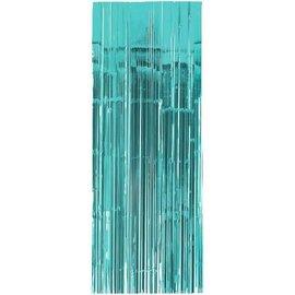 Robin's-egg Blue Metallic Curtain