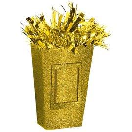 Small Popcorn Balloon Weight - Sparkle Gold