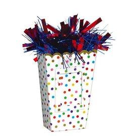 Small Popcorn Balloon Weight - Rainbow Confetti