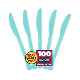 Big Party Pack Robin's-egg Blue Plastic Knives, 100ct