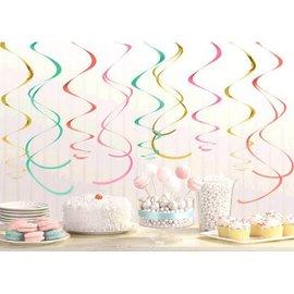 Plastic Swirl Decoration - Pastel