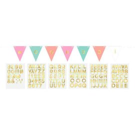 Customizable Paper Pennant Banner - Pastel