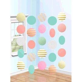 Hanging Circle Decorations - Pastel