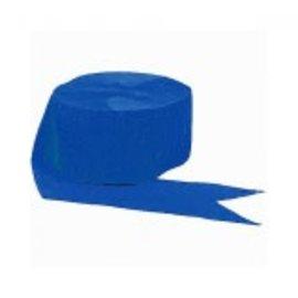 Bright Royal Blue Crepe Streamer, 81'