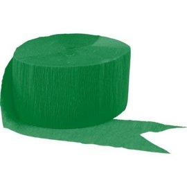 Festive Green Crepe Streamer