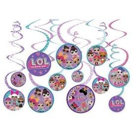 LOL Suprise! Value Pack Spiral Decorations, 12Ct