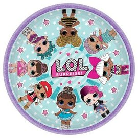 "LOL Surprise! 9"" Round Plates, 8ct"