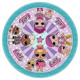 "LOL Surprise! 7"" Round Plate, 8ct"