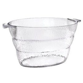 Hammered Clear Beverage Tub w/Handles