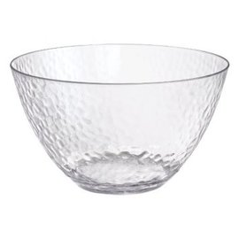 Hammered Clear Large Bowl   4.5 QT