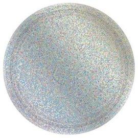 "Round Prismatic Plates, 7"" - Silver 8ct"
