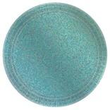 "Round Prismatic Plates, 7""- Robin's Egg Blue 8ct"