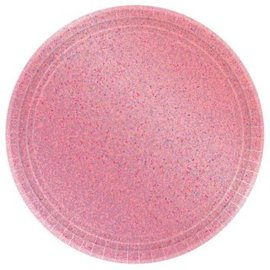 "Round Prismatic Plates, 7"" - New Pink"