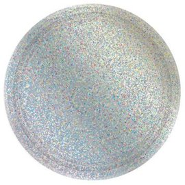 "Round Prismatic Plates, 9"" - Silver 8ct"