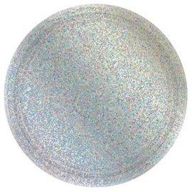 "Round Prismatic Plates, 9"" - Silver 8ct"