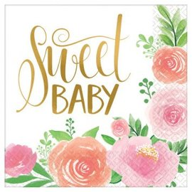 Floral Baby Luncheon Napkins, 16ct