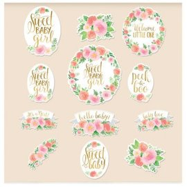 Floral Baby Cutouts 12ct