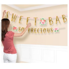 Floral Baby Jumbo Letter Banner Kit, 2 pieces