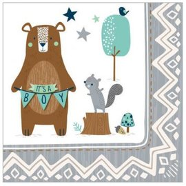 Bear-ly Wait Beverage Napkins 16Ct